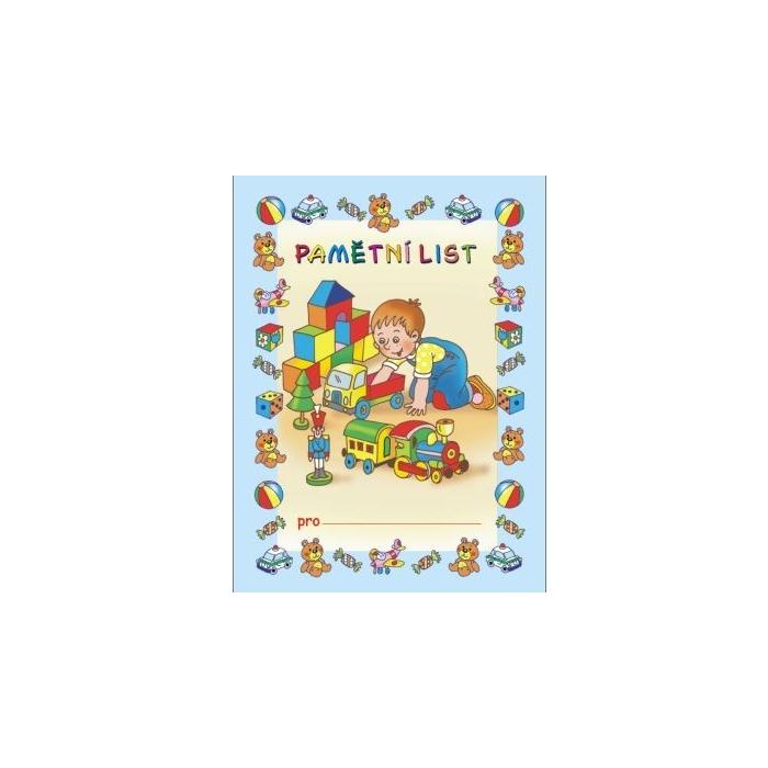 Pamětní list A5 - Chlapec a hračky