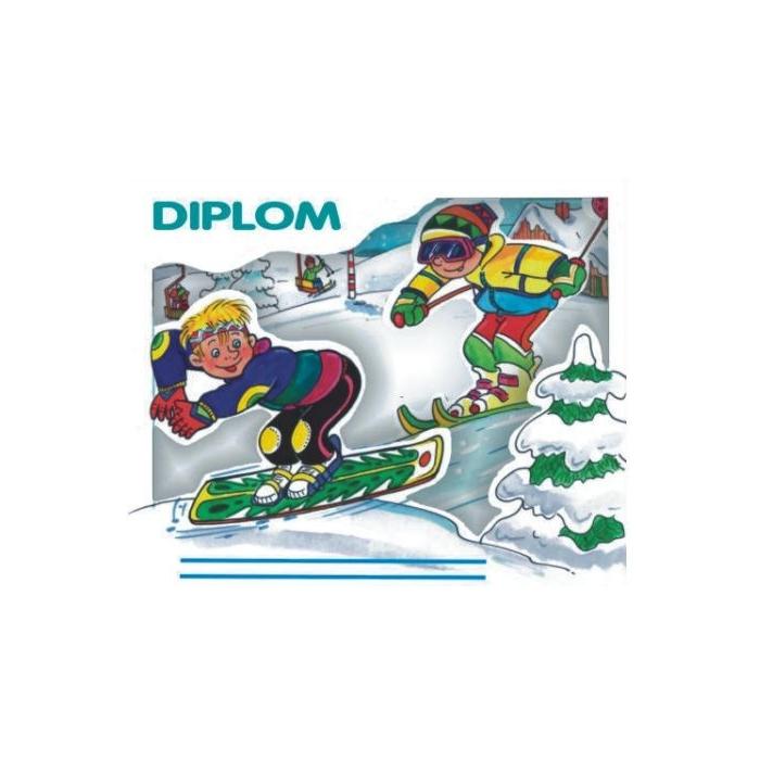 3D diplom zimní snowboard - 3 x 155 x 133 mm