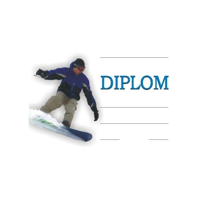 Diplom A4 - Zimní snowboard