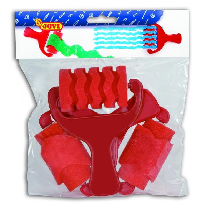 Páskové válečky(barva červená), závěs, 3ks - 811