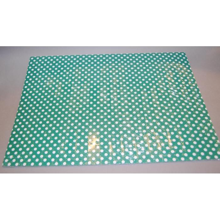 Karton 300 g 25 x 35 cm - barevný mix 10 ks puntíkovaný