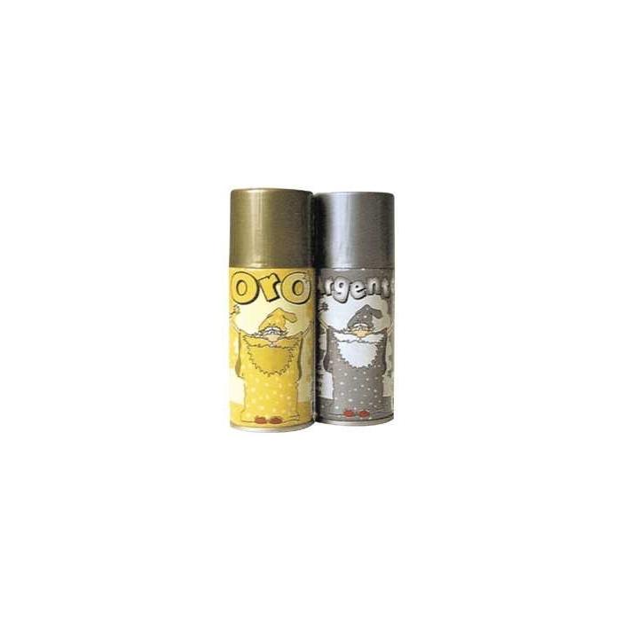 Dekorační stříbrný sprej