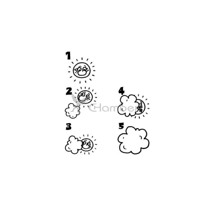 Pilgr - Sluníčko - sada hodnotících razítek s číslicí