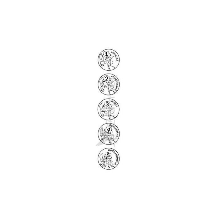 Sněhulák - sada hodnotících razítek s textem