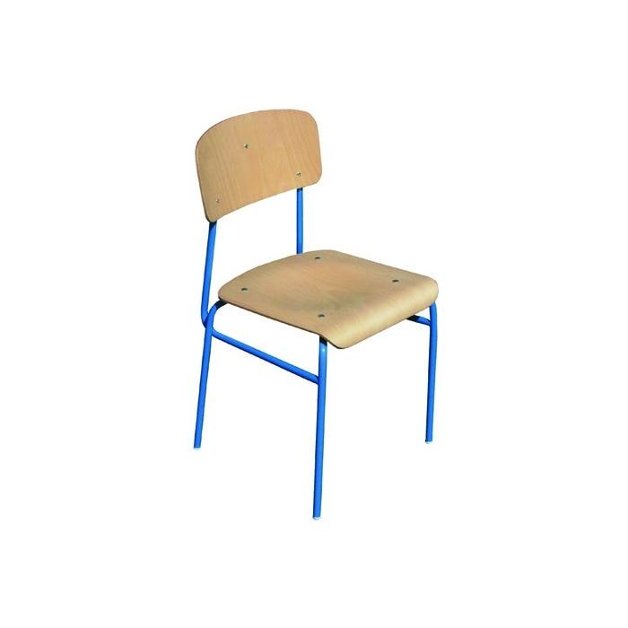 Židle školní - zrenovovaná - opěrák, sedák - přírodní