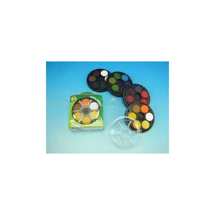 Vodové barvy-anilinky 24 barev