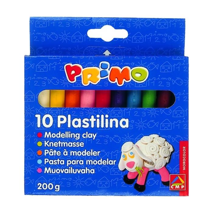 Plastelína PRIMO 10 barev, 180g