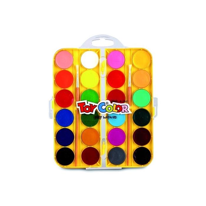 Vodové barvy 24barev+štětec