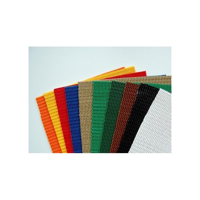 Strečový oboustranný papír 18 x 24 cm, 10 barev