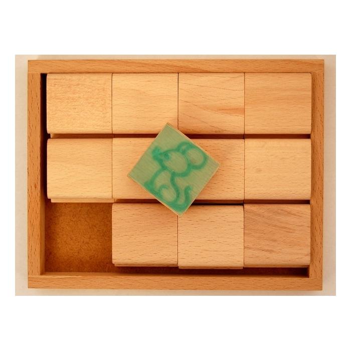 Razítka zvířátka v dřevěné krabici