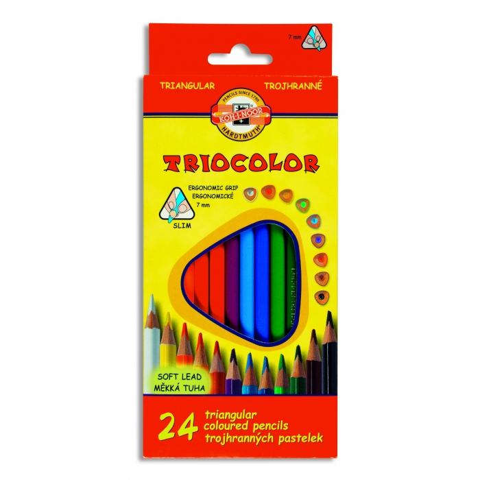 Trojhranné pastelky 24 ks