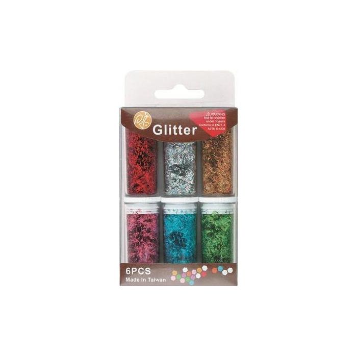 Glitrové dekorační proužky 6 barev