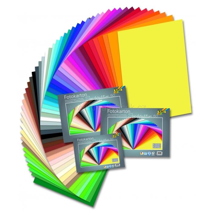 Fotokarton 50 listů 50 barev