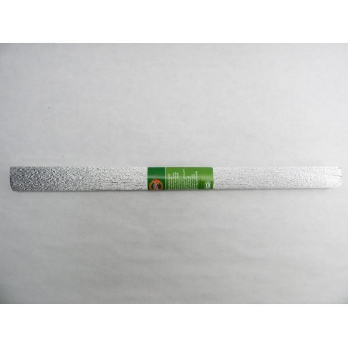 Metalizovaný krepový papír stříbrný