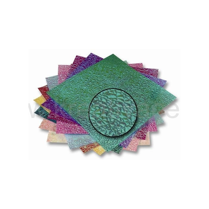 Texturovaný barevný papír 14 x 14 cm, 50listů