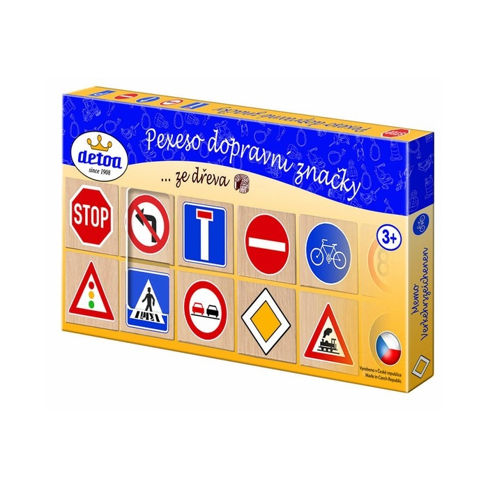 Dřevěné pexeso-dopravní značky