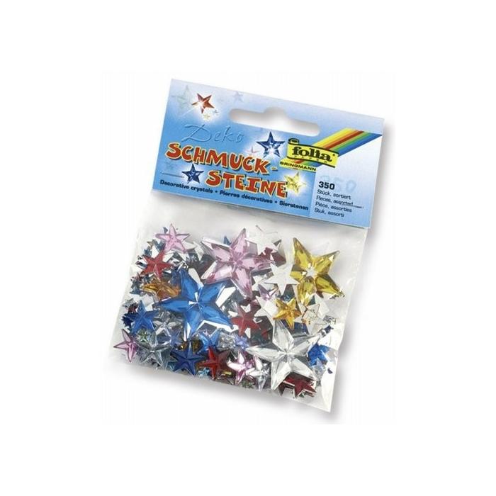 Ozdobné kamínky - hvězdy 350ks