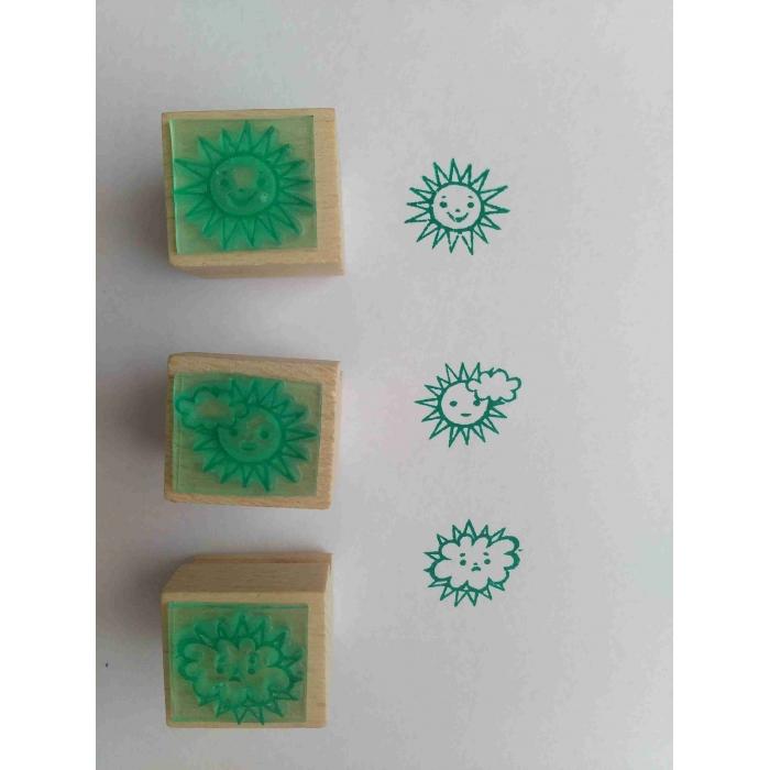Sluníčko - sada tří tiskátek