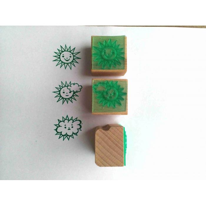 Sluníčko velké - sada tří tiskátek