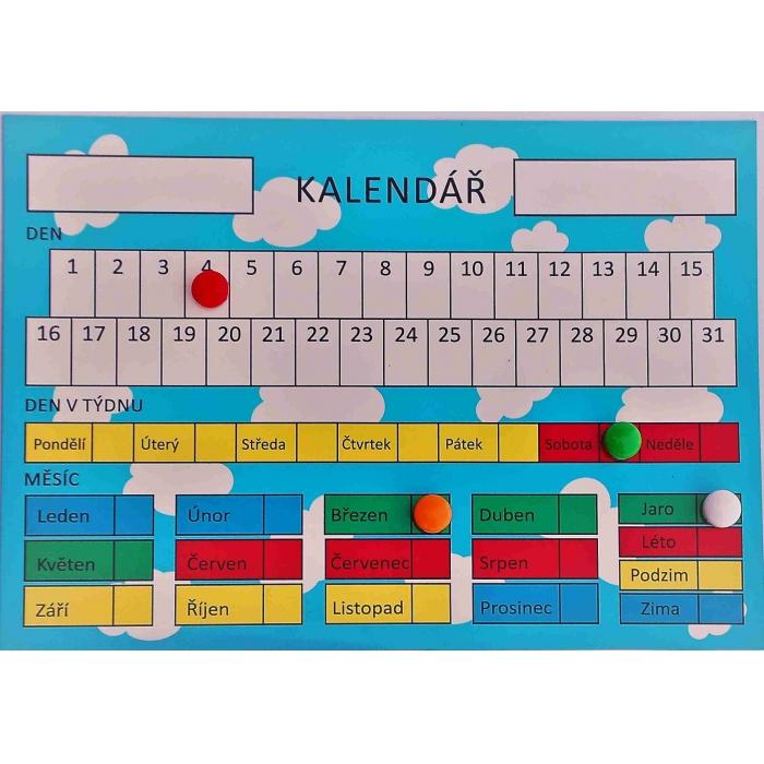 Kalendář na magnetické fólii A4