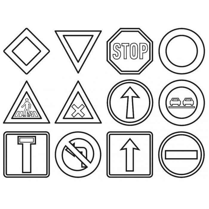 Výuková razítka Dopravní značky+4 pastelky