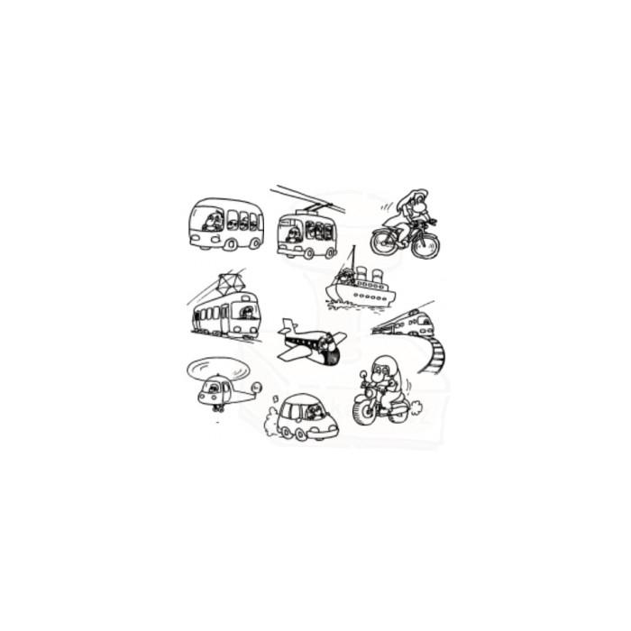 Tiskátka - Dopravní prostředky - sada