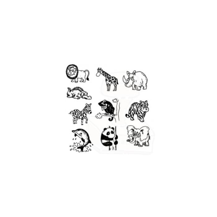 Tiskátka - Divoká zvířata - sada