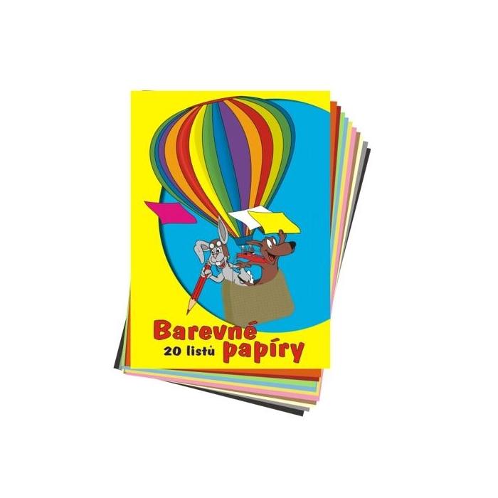 Papír NORMAL 80 g A4, 20 ks, barevný mix