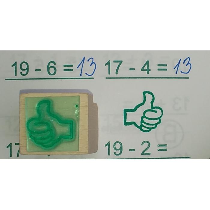 Motivační razítko palec nahoru-dolů