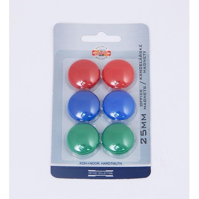 Magnety 6 kusů, průměr 25 mm