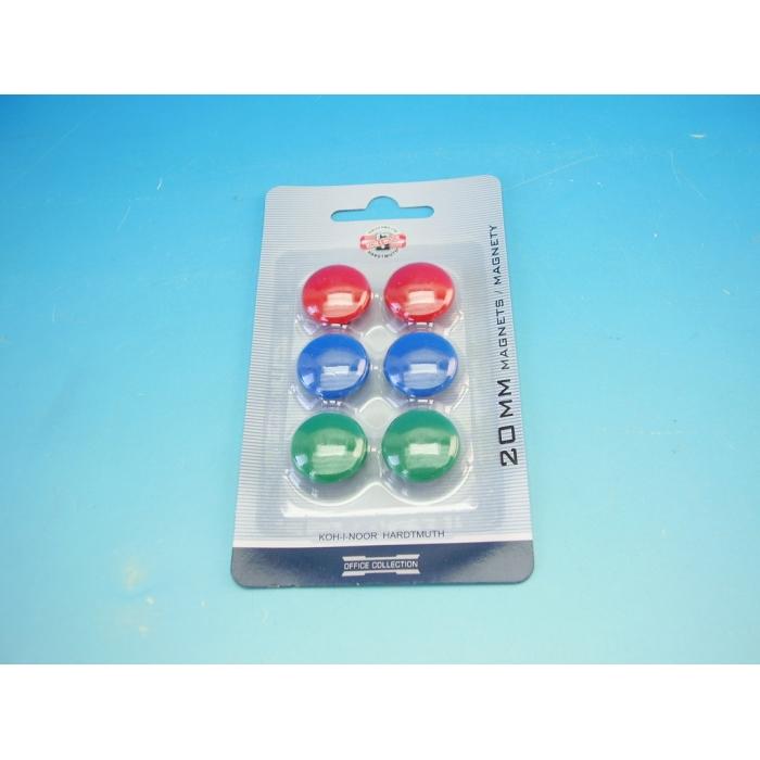 Magnety 6 kusů, průměr 20 mm