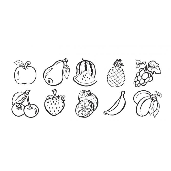 Razítka OVOCE + meloun