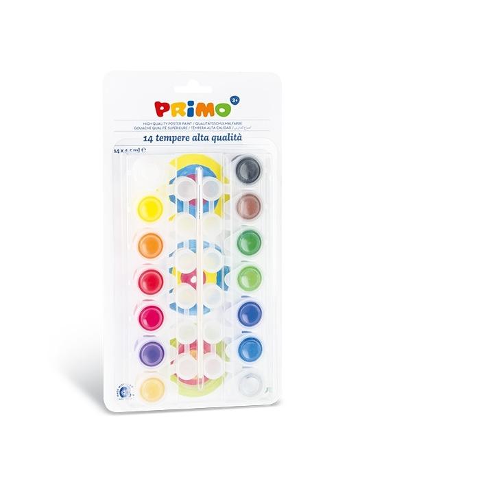 Temperové barvy PRIMO 14 x 4,5 ml