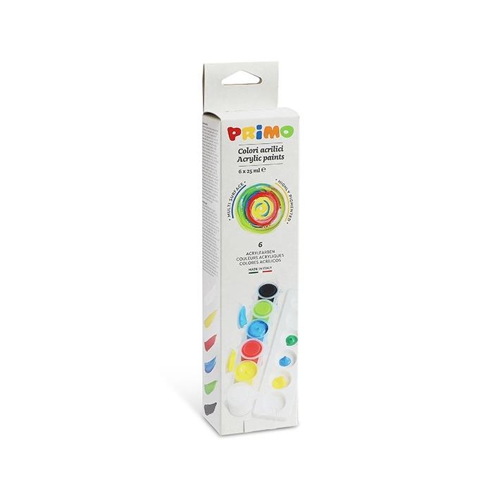 Akrylové barvy PRIMO  6 x 25 ml