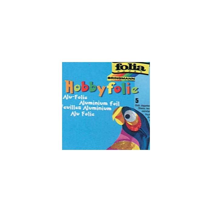 Hliníková fólie hobby 19 x 30 cm - 5 barev