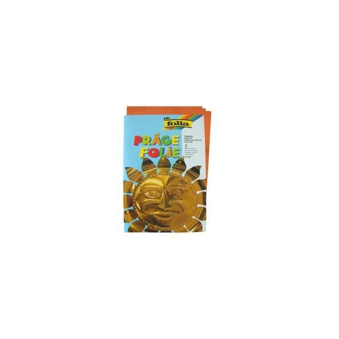 Hliníková fólie A4 protlačovací 3 ks - měděná