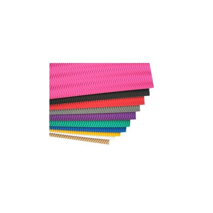 Vlnitá lepenka mix barev 34 x 25 cm 10 ks