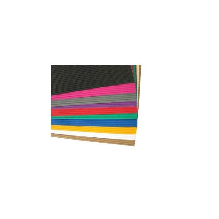 Vlnitá lepenka mix barev 34 x 25 cm, 10 ks,