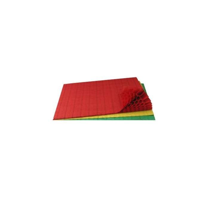 Plisovaný papír 42 vrstev 20 x 33 cm, 3 ks, barevný mix