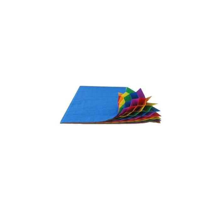 Plisovaný papír duhový 30 vrstev, 20 x 33 cm, 5ks