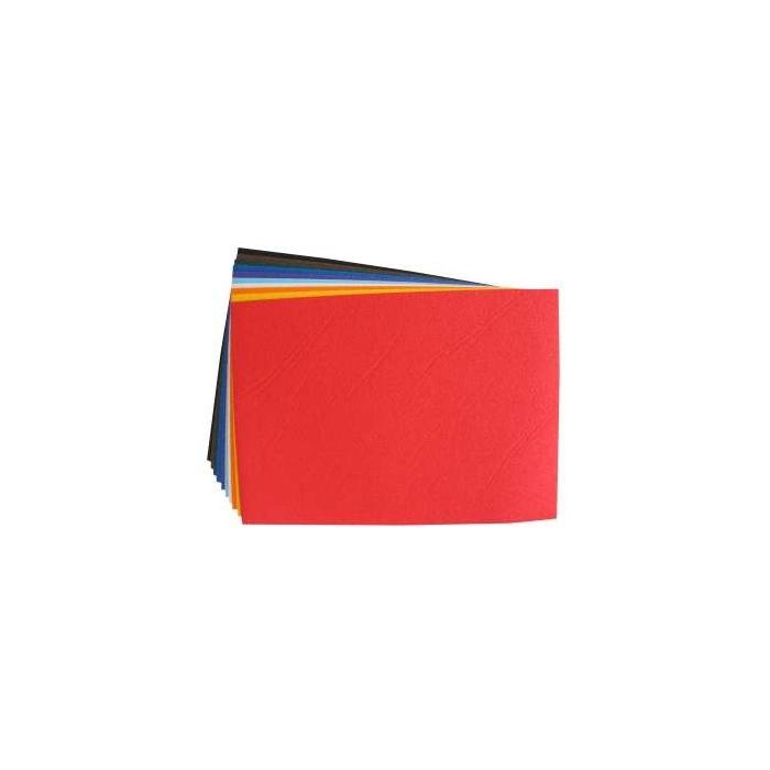 Velurový pórovitý papír 23 x 33 cm, 10 ks, barevný mix