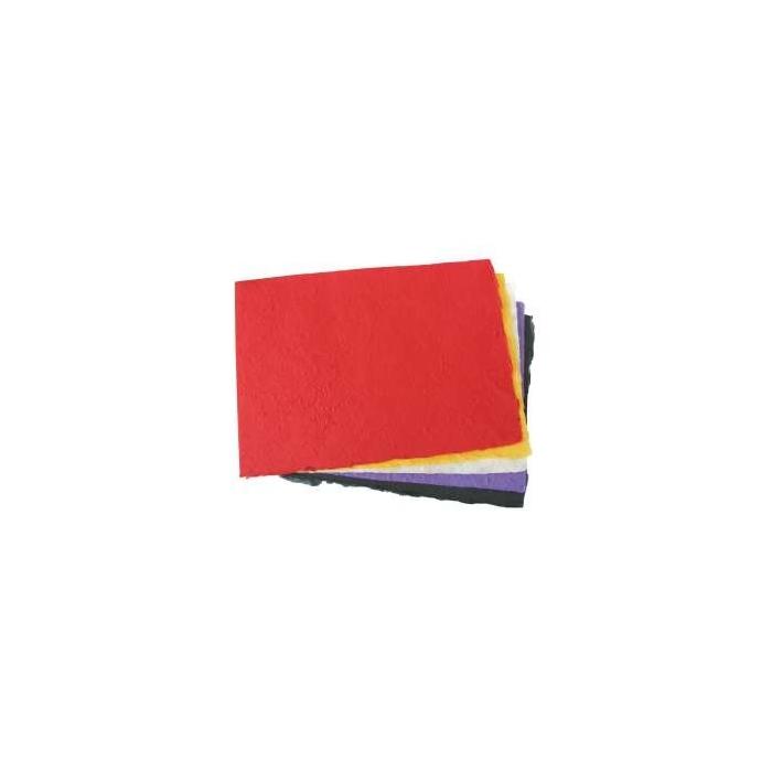 Vlákninový papír mačkaný 25 x 38 cm, 100 g, 5 ks, barevný mix