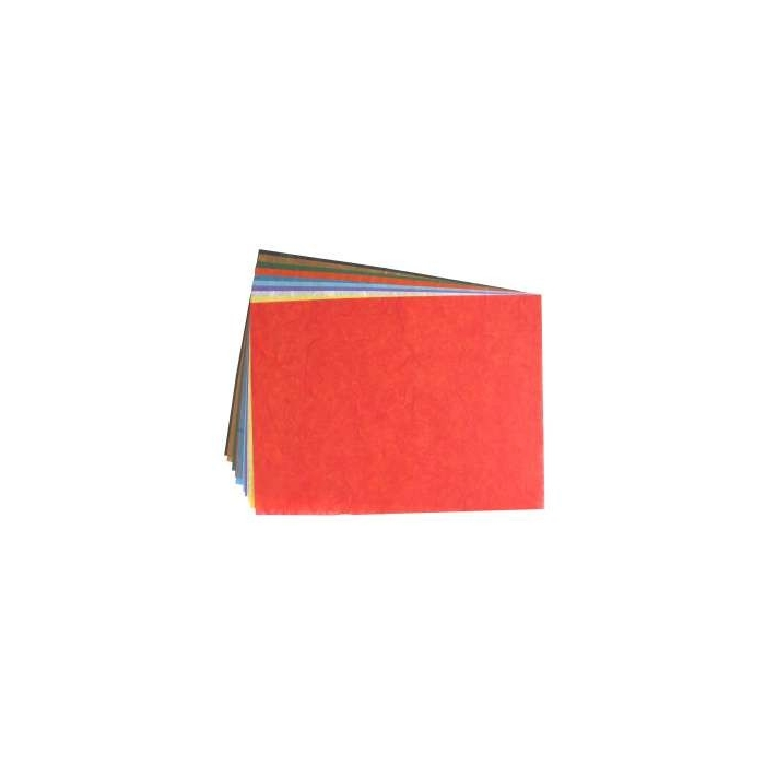 Vlákninový papír hedvábný 23 x 32 cm, 25 g, 5 ks, barevný mix
