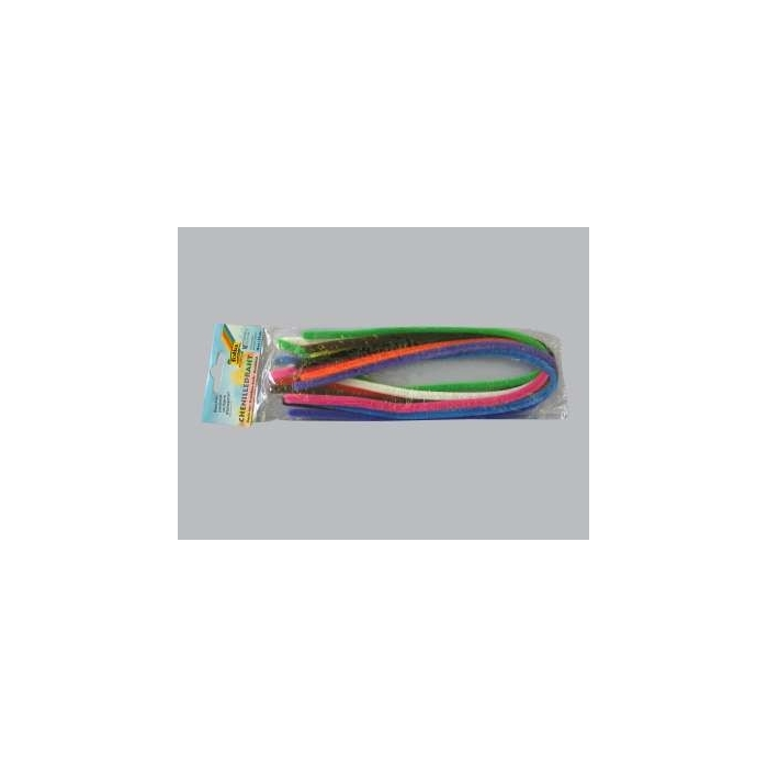 Plyšový drát průměr 8 mm, 50 cm délka, 10 barev