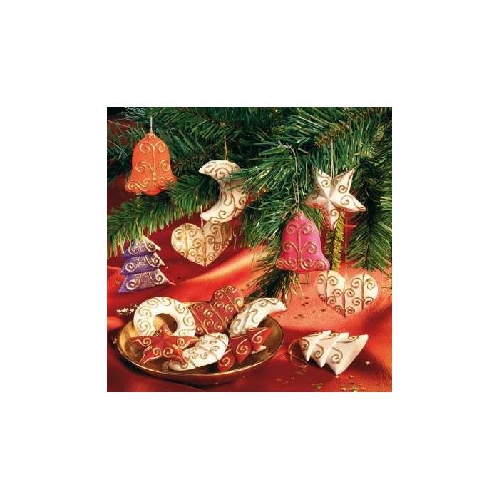 Forma vánoční ozdoby 6 motivů
