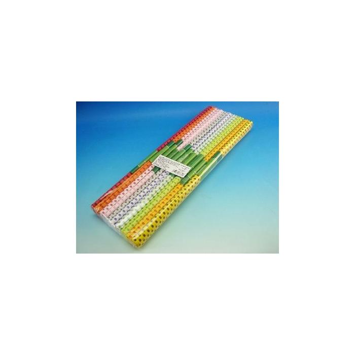 Krepový papír - puntík, 10 barev