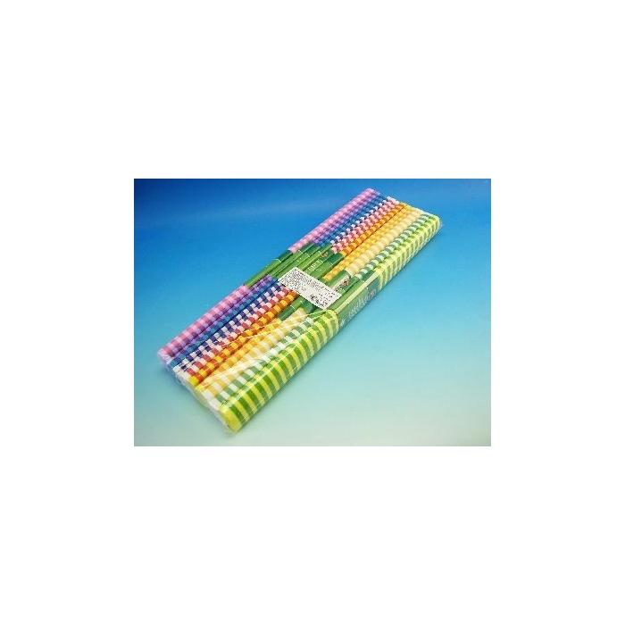 Krepový papír - pruh, 10 barev