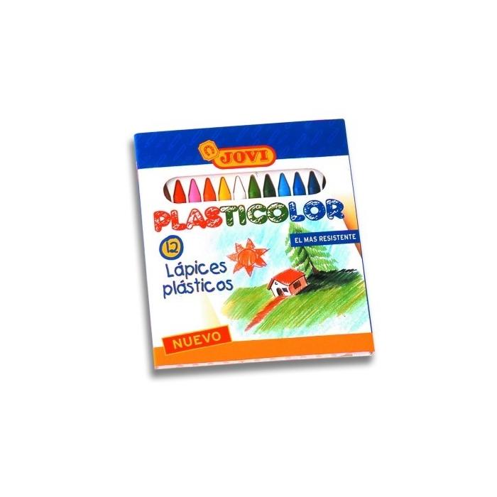 Pastelky PLASTICOLOR kulaté 12+1 ks