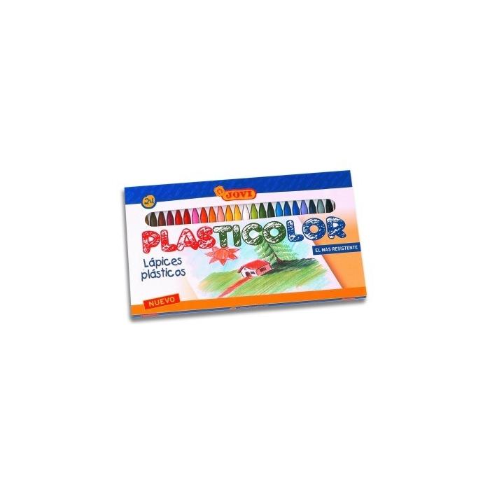 Pastelky PLASTICOLOR kulaté 24+2 ks