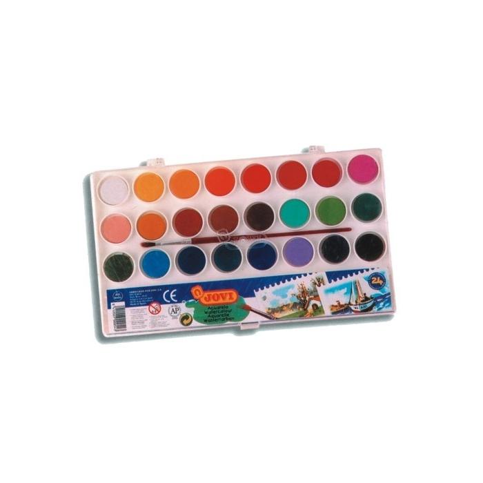 Vodové  barvy JOVI 24 ks, průměr 22
